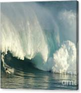 Surfing Jaws 1 Canvas Print