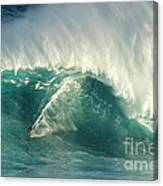 Surfing Jaws 2 Canvas Print