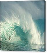 Surfing Jaws 3 Canvas Print