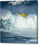 Surfing Jaws 6 Canvas Print