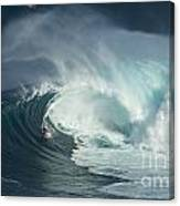Surfing Jaws Fast And Furious Canvas Print