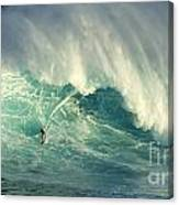 Surfing Jaws Hang Loose Brother Canvas Print