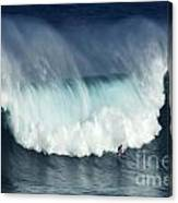 Surfing Jaws Running With Wolves Canvas Print