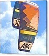 Surfing Kite Canvas Print