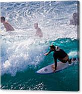 Surfing Maui Canvas Print