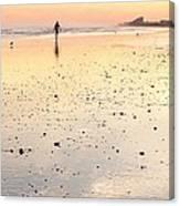 Surfing Sunset Canvas Print