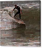 Surfing The Bricks Canvas Print