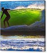 Surfing The Waves 2 Canvas Print