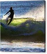 Surfing The Waves Canvas Print