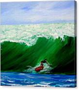 Surf's Up Surfing Wave Ocean Canvas Print