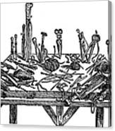 Surgical Instruments, 1567 Canvas Print