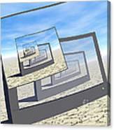 Surreal Monitors Infinite Loop Canvas Print