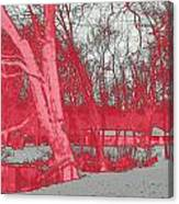 Surreal Red Winter Canvas Print
