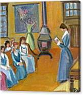 Susan B. Anthony Teaching In Canajoharie Canvas Print
