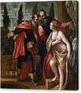 Susannah And The Elders Canvas Print