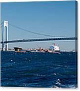 Suspension Bridge Over A Bay Canvas Print