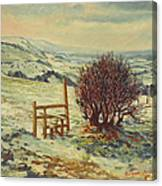 Sussex Stile, Winter, 1996 Canvas Print