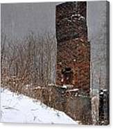 Sutherland Chimney In Winter Number One Canvas Print