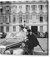 Suzy Parker Outside The French Vogue Office Canvas Print