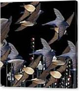 Swallows In The City Canvas Print