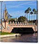 Swan And Dolphin Resort Bridge Canvas Print