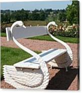 Swan Bench Canvas Print