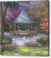 Swan Pond Canvas Print