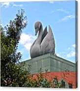 Swan Resort Statue Walt Disney World Canvas Print