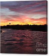 Swan River Sunset Canvas Print