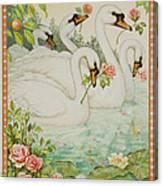 Swan Romance Canvas Print