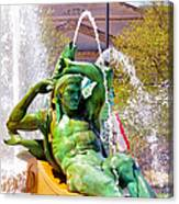 Swann Fountain Gods Canvas Print