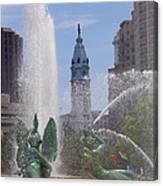 Swann Fountain In Philadelphia Canvas Print