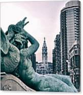 Swann Fountain Statue Canvas Print