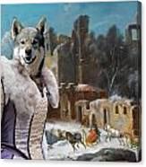 Swedish Elkhound - Jamthund Art Canvas Print  Canvas Print