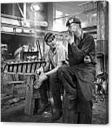 Swedish Foundry Workers Canvas Print