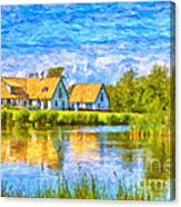 Swedish Lakehouse Canvas Print