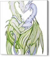 Swedish Love Dragons Canvas Print