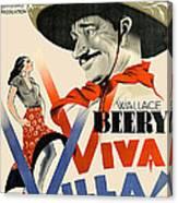 Swedish Poster #1   Viva Villa 1934-2008 Canvas Print