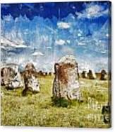 Swedish Standing Stones Canvas Print
