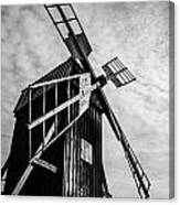 Swedish Windmill One Of The 400 Year Old Canvas Print