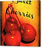 Sweet Cherries - Kitchen Art Canvas Print