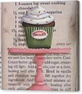 Sweet Chocolate Cupcake Canvas Print