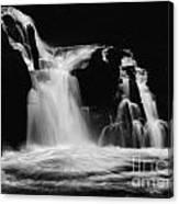 Sweet Creek Falls Oregon Monochrome Canvas Print