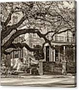 Sweet Home New Orleans 2 Sepia Canvas Print