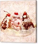 Sweet - Ice Cream - Banana Split Canvas Print