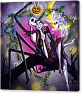 Sweet Loving Dreams In Halloween Night Canvas Print