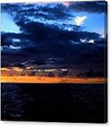 Sweet Mystery... Last Glimmering Off Guadeloupe Canvas Print
