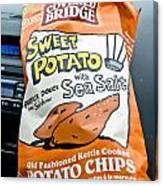 Sweet Potato Chips Canvas Print