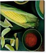 Sweetcorn And Limes Canvas Print