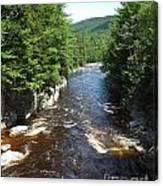 Swift River Below Rocky Gorge New Hampshire White Mountains Canvas Print